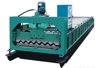ประเทศจีน Colored Steel Roof Panel Roll Forming Machine Producing 750mm Width Tiles ผู้ผลิต