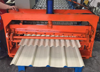 ประเทศจีน Color Coated Metal Sheet Rolling Machine , Smart Metal Roofing Roll Former  ผู้ผลิต
