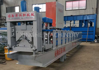 ประเทศจีน Color Steel Galvanized Aluminum Sheet Metal Glaze Roof Ridge Cap Roll Forming Machine ผู้ผลิต