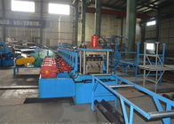 ประเทศจีน 380V Highway Guardrail Roll Forming Machine / Roll Former Machine With Decoiler โรงงาน