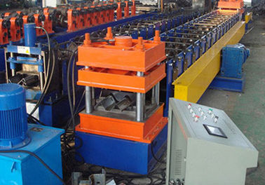 Colored Steel Highway Guardrail Roll Forming Machine , Tube Forming Machine