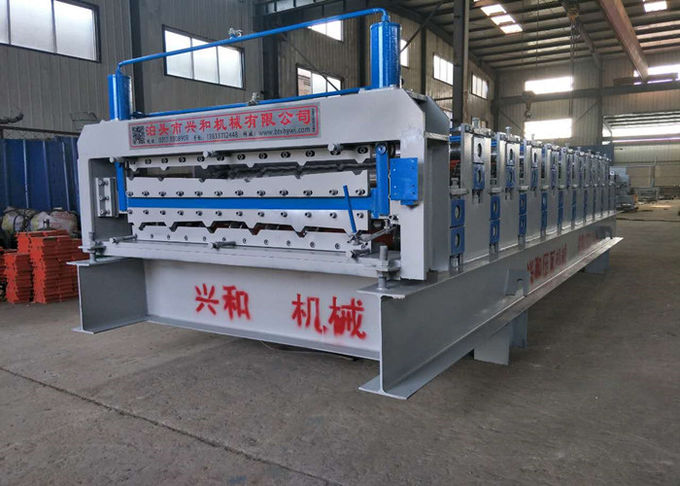 High Capacity Metal Roof Forming Machine For 0.3 - 0.8mm Thickness Steel Plate