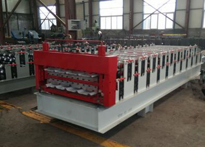 Aluminium Roofing Tile Cold Roll Forming Machines With 12m / Min High Speed