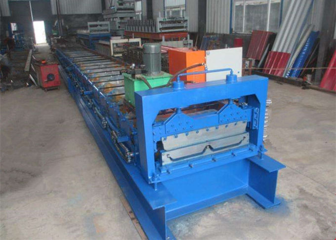 High Speed Step Tile Roll Forming Machine / Tiles Making Machine With 19 Rollers